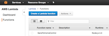Create AWS Lambda function